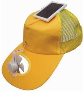 solar-powered fan cap