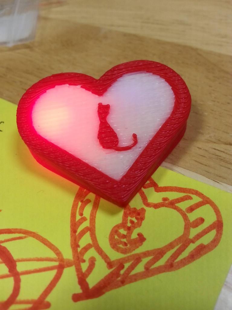 Gadgetcat 3D Heart Sketch
