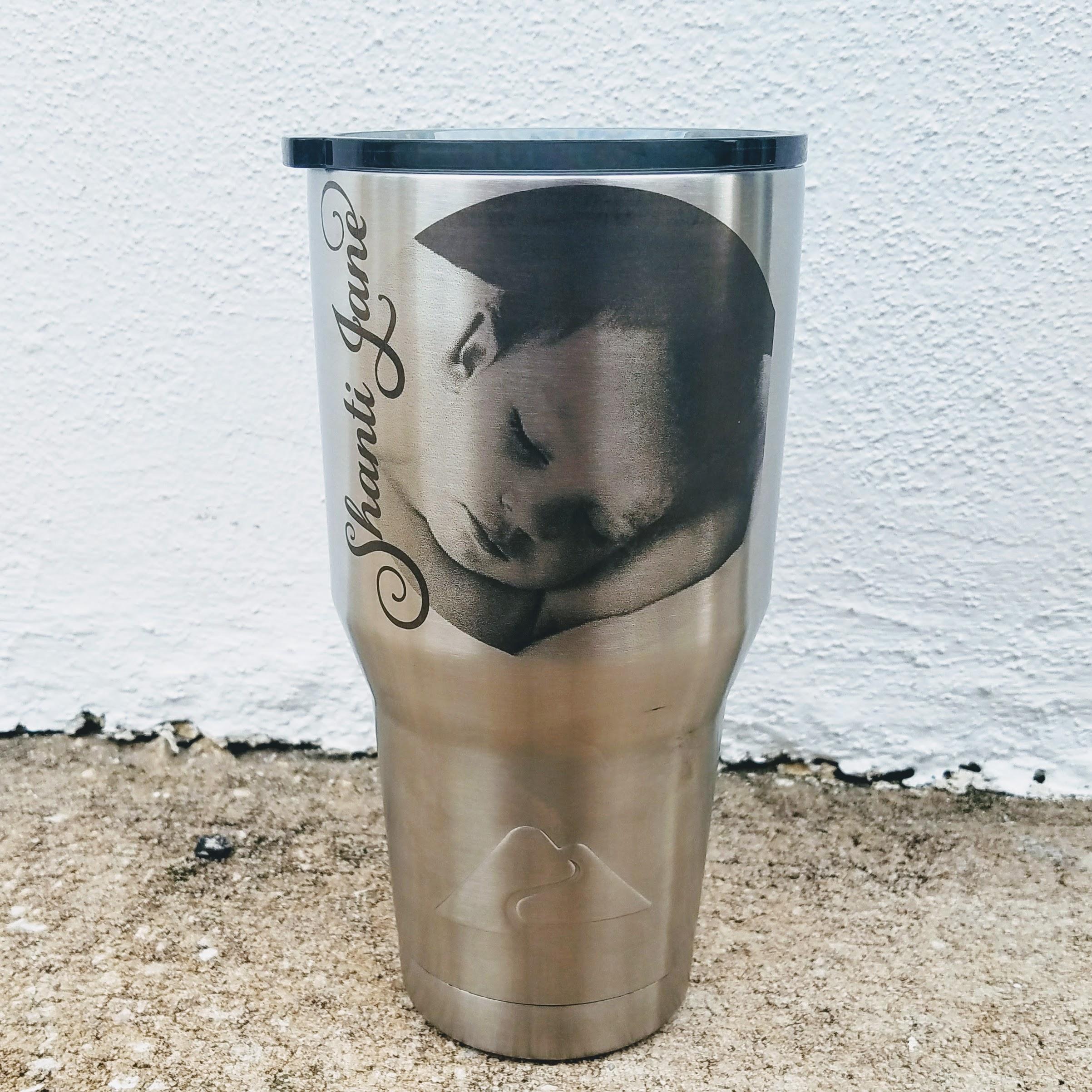 Photo Laser engraved on mug 30oz YETI or Ozark